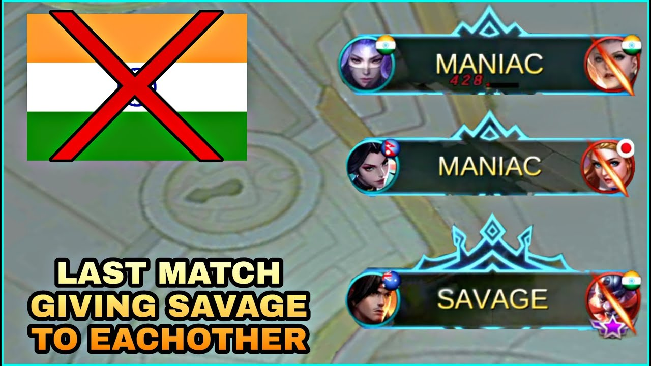 Last Match On Indian Server Giving Savage To Each Other | Mobile Legends