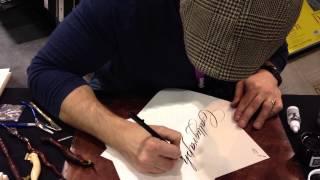 Master Penman Jake Weidmann demoing Pigma Professional Brush Pens