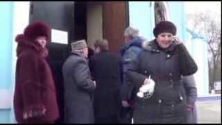 Смена власти в соборе  Михаила Архангела Ейск 03 01 2014.
