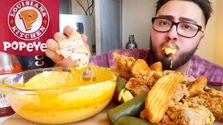 CHEESY FRIED CHICKEN MUKBANG
