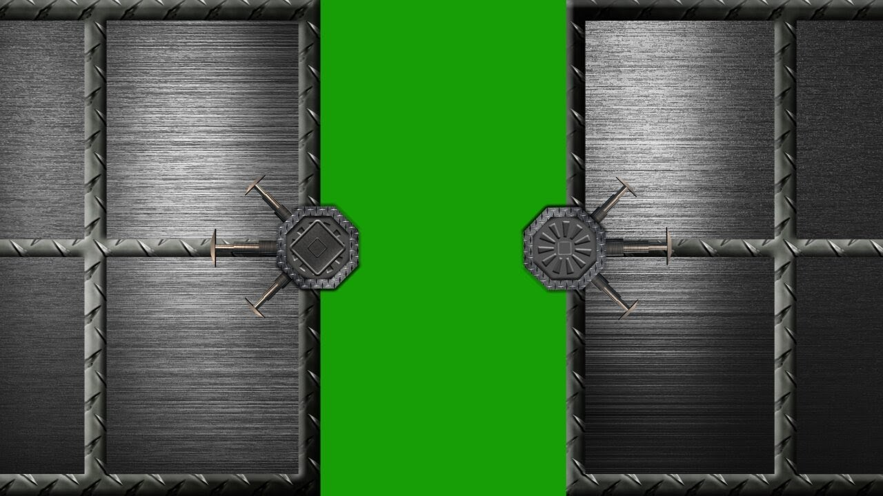 Security Steel Door Opens And Closes Green Screen Effect