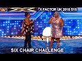 Burgandy Williams and Panda Ross Duet Never Enough FANTASTIC! | Six Chair Challenge X Factor UK 2018