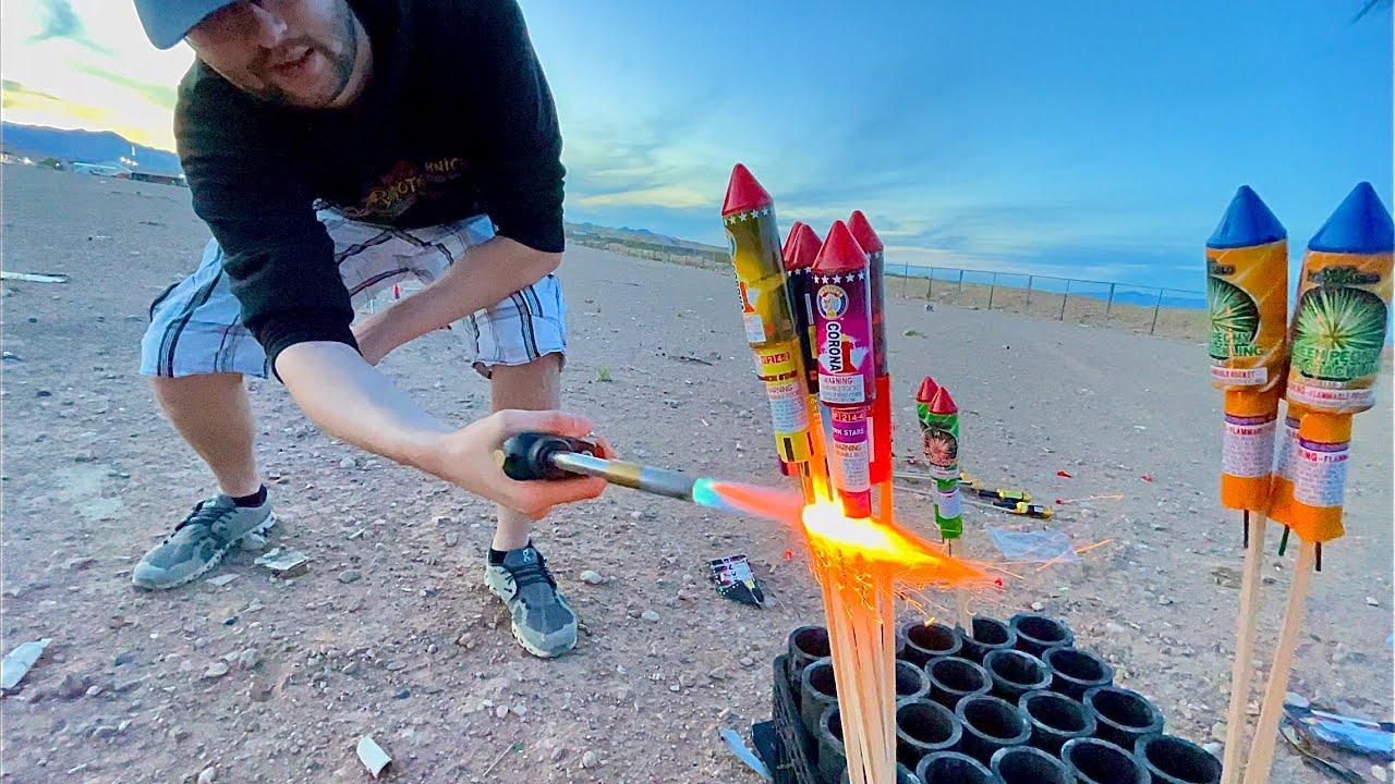 Enjoying Firework Rockets!