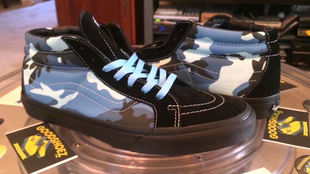 de7f7a4cdf  VANS x Supreme Camouflage - Sk8-Mid - (Supreme) Sky Blue with light blue  lace swap - 3.30.2015