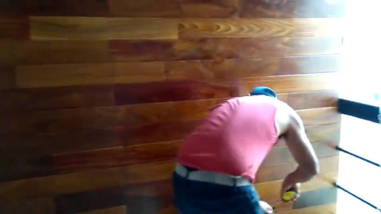 Machihembrado de madera para pared rpc 951816019 982301646 fijo 6054400 youtube - Revestir pared con madera ...
