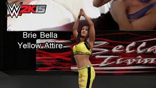 WWE 2K15 (PS4) Brie Bella Yellow Attire [Community Creations]