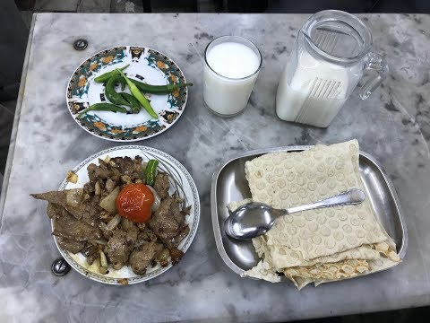 Jiz Biz (Liver and Guts) - One of the Famous Street Foods in Tabriz, Iran