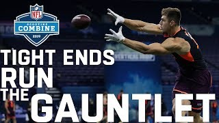 Tight Ends Run the Gauntlet Drill | 2019 Scouting Combine Highlights