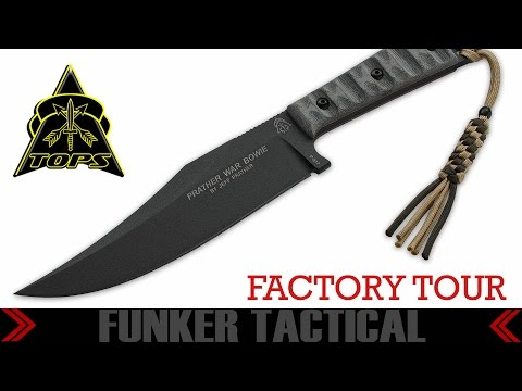 TOPS KNIVES  Factory Tour  Funker Tactical