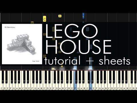 Ed Sheeran Lego House Piano Tutorial Sheets Youtube