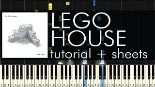 Ed Sheeran - Lego House - Piano Tutorial + Sheets