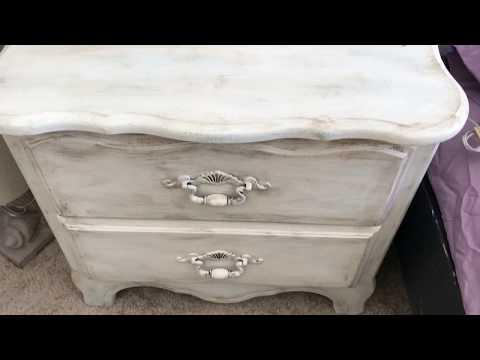 Chalk paint a dresser with dark wax - Anna Sloan style Final LOOK