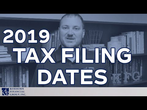 important-2019-tax-filing-date-updates