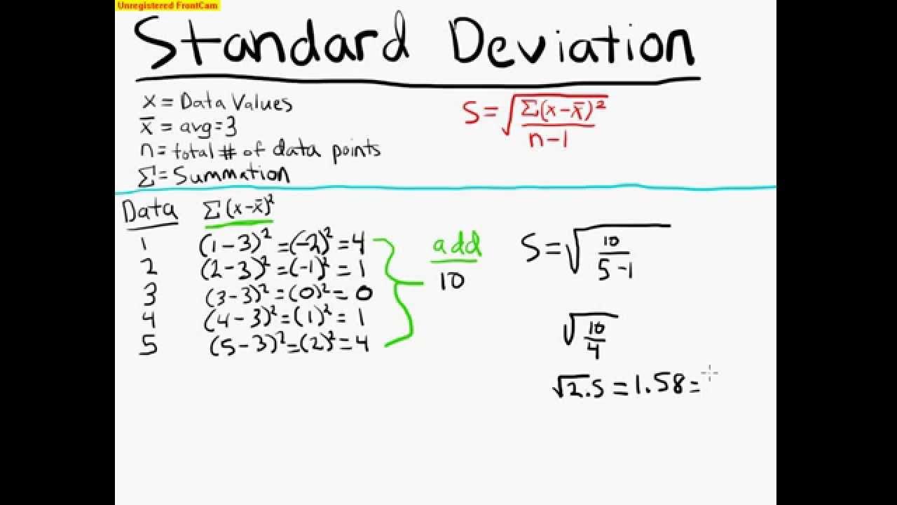 statistics formulas with examples pdf