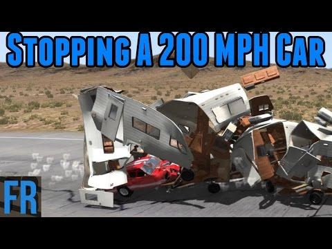 BeamNG Drive Challenge - Stopping a 200 MPH Car