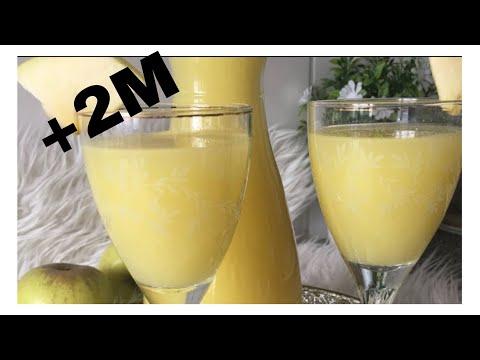 عصير منعش تفاح 🍏وحامض 🍋مذاق ولا اروع وبكمية مهمة jus de pomme et citron