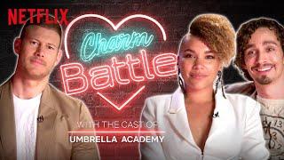 Flirting With Tom Hopper And Robert Sheehan Of Umbrella Academy | Charm Battle | Netflix