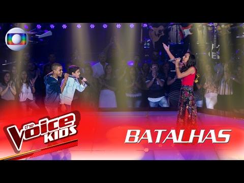 Allexandre Nunes, Juan Carlos Poca, Thay Araujo cantam 'Evidências' nas Batalhas – The Voice Kids