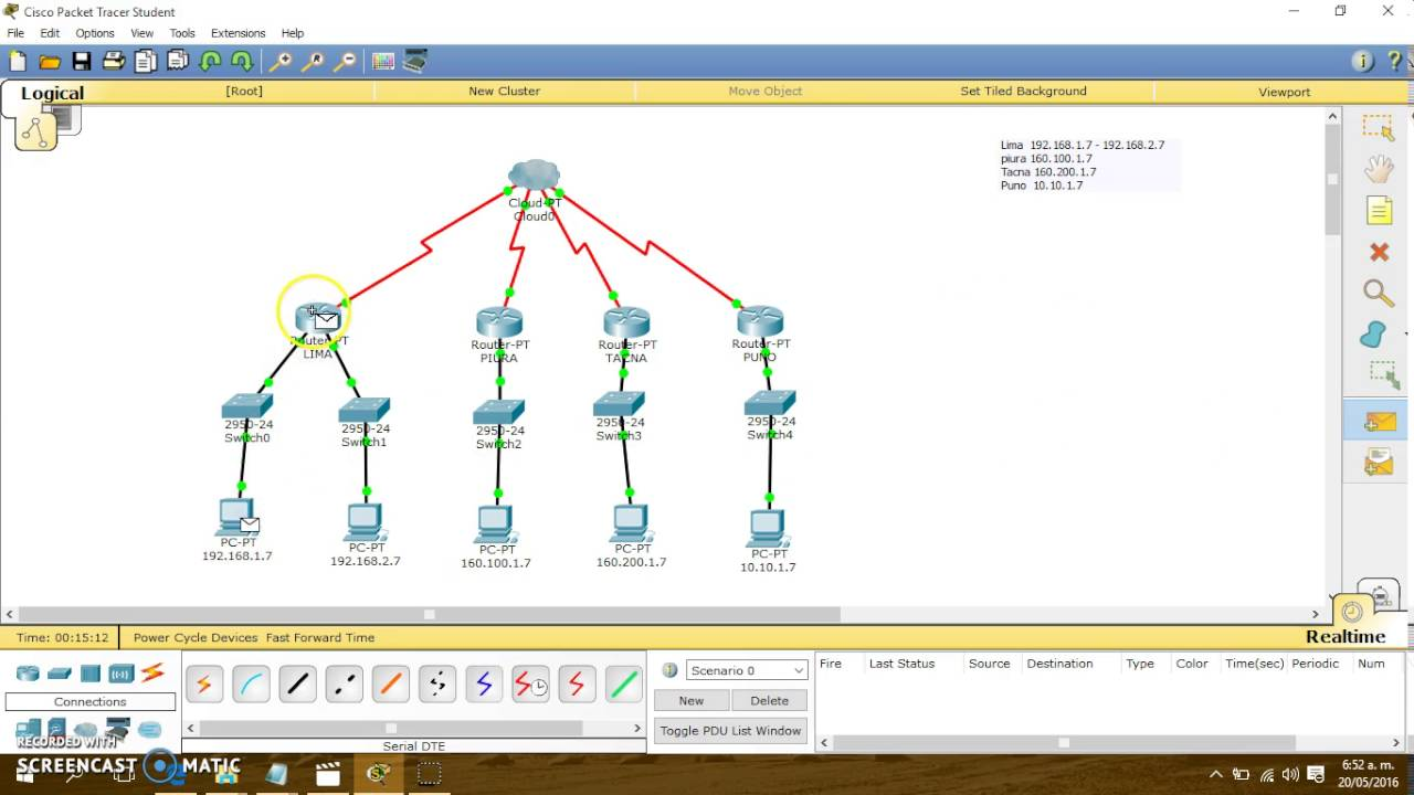 Cisco Packet Tracer - Nube Frame Relay (4 routers) - YouTube