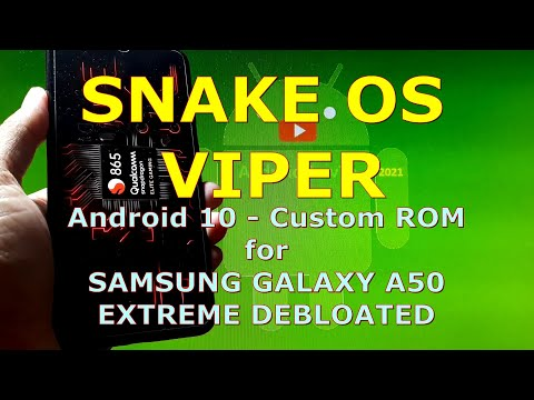 Snake OS Viper for Samsung Galaxy A50 Android 10 Gaming ROM