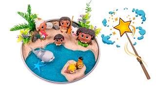 Moana Shiny Beach! DIY How to Make Kinetic Sand Beach Scene #00 - By MagicPang
