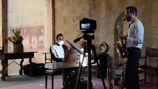 David Hernando Vitores (Saxophone) & Sandro' Bakhuashvili (Piano). Torre Condes de Orgaz / Concert.