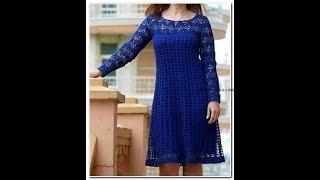 Синее платье крючком.Часть №5