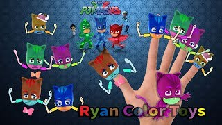 [PJ Mask] Finger Family rhymes Song PJ Mask finger | children songs|fruits and vegetables|for