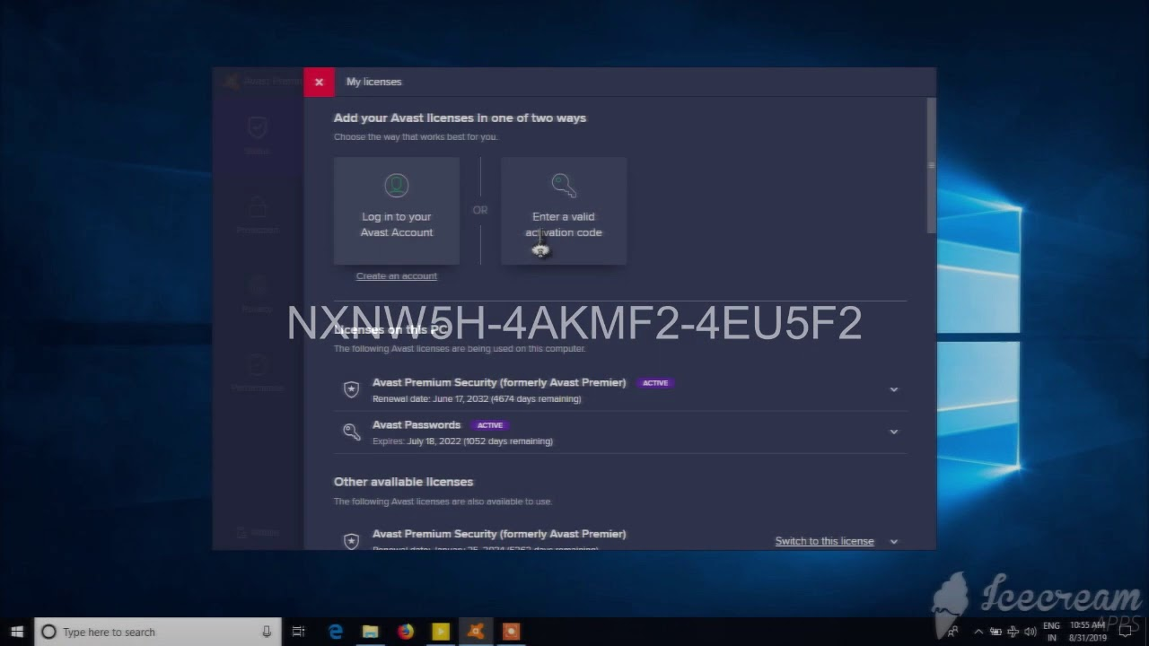 AVAST LICENCE KEY STILL 2038 - YouTube