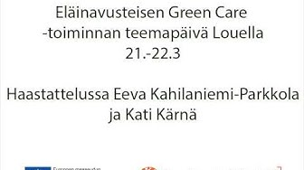 YLE Radio Perämeri: Eläinavusteiset teemapäivät 21.-22.3 2014: Haastattelut