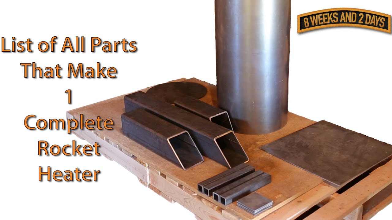 Rocket Stove Heater Parts List And Build Sequence Part 1