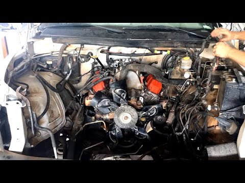 engine removal tear   installation time lapse dodge ram  youtube