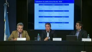El ministro Nicolás Dujovne brinda una conferencia de prensa