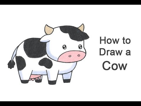 How To Draw A Cow (Cartoon)