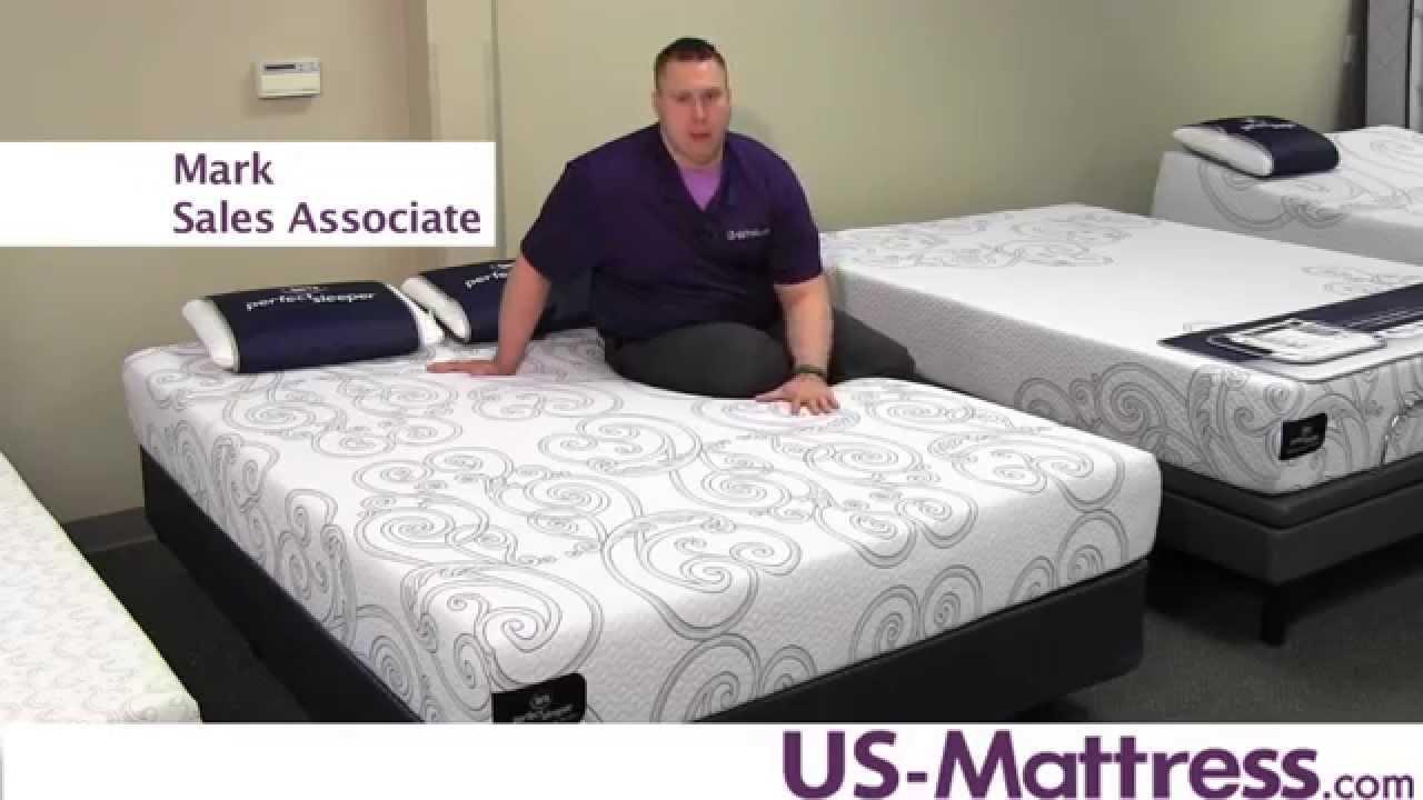 Serta Perfect Sleeper Gel Memory Foam Lorabelle Mattress Youtube