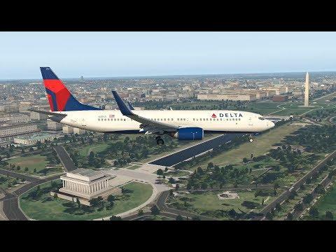 Washington Reagan National Airport KDCA River Visual Approach RWY 19
