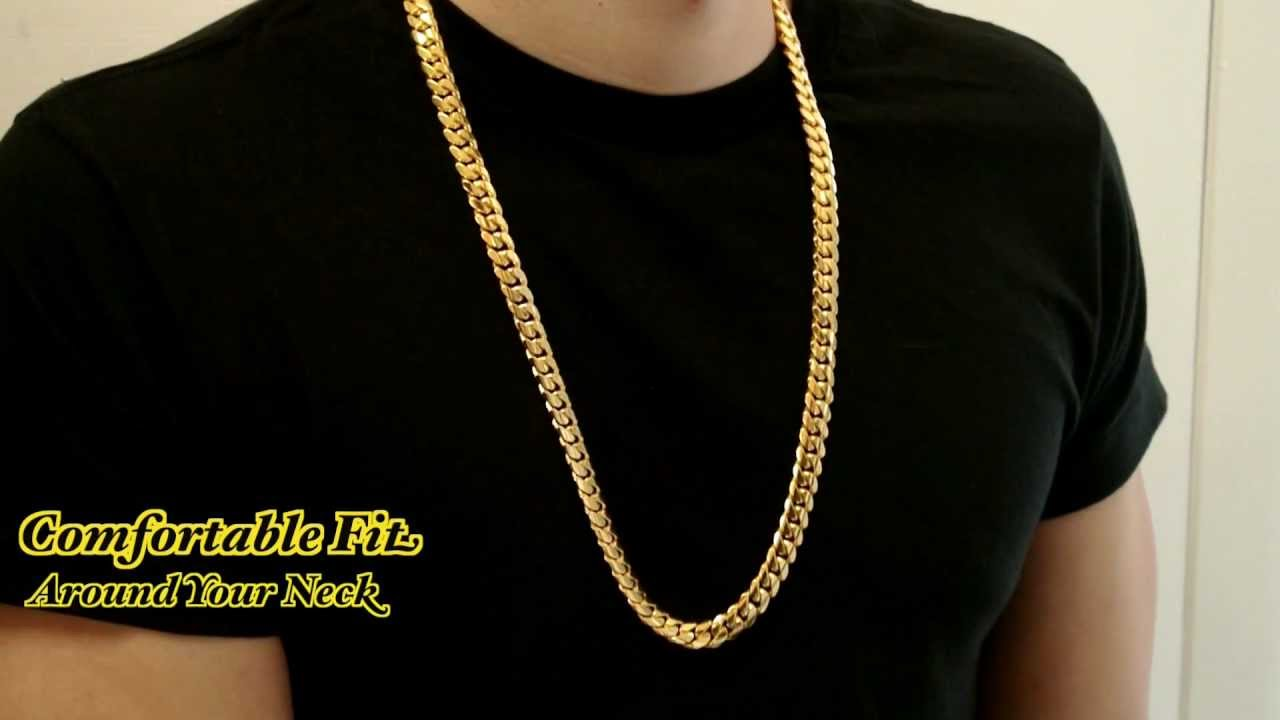 11mm Miami Cuban Link Box Lock Chain Hd Hand Made Custom