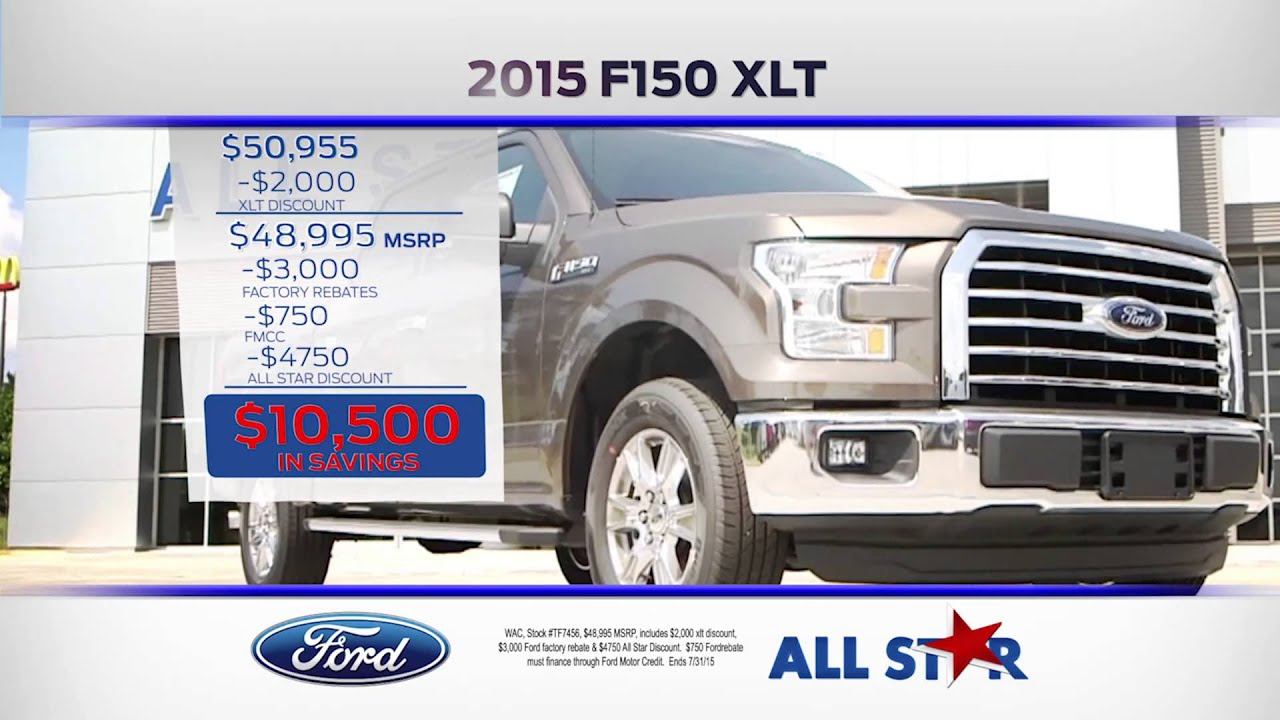all star ford lincoln july 2015 2015 ford f 150 youtube. Black Bedroom Furniture Sets. Home Design Ideas