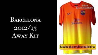 Barcelona 2012/13 kits