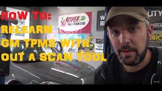 How To Reprogram / Re-Learn TPMS On GM Vehicles