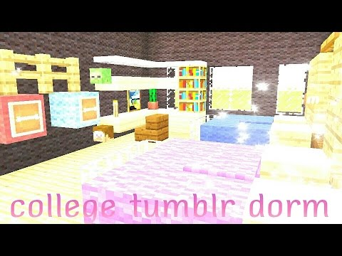 Tumblr College Dorm | Minecraft PE Part 56