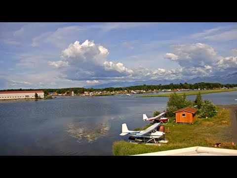 Lake Hood Seaplane Base, Anchorage, Alaska, USA | StreamTime LIVE