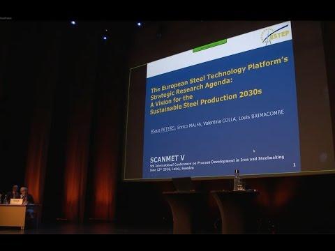 SCANMET V. The European steel technology platform´s strategic research agenda... Klaus Peters, ESTEP