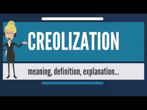 What is CREOLIZATION? What does CREOLIZATION mean? CREOLIZATION meaning & explanation