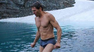 Freezing cold swim in glacial pool - Hiking Bear Mountain in Alaska