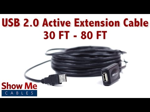 Easy To Use USB 2.0 Active Extension Cable - 30 FT - 80 FT