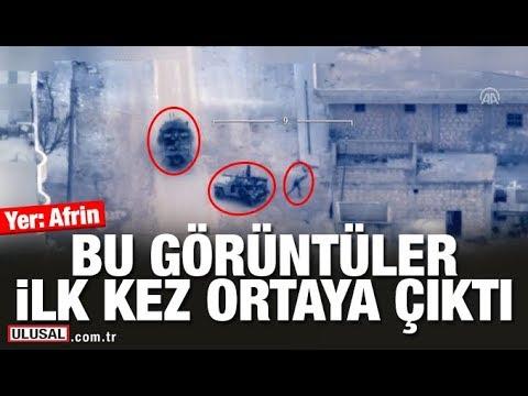 Suriye Afrin'den YPG-PKK saldırıları İHA'larca görüntülendi