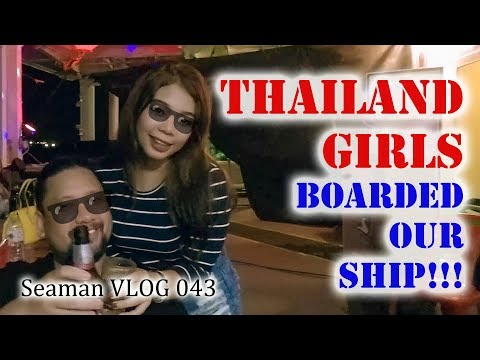 THAI GIRLS ABOARD THE SHIP!!! Koh Si Chang, Thailand |  Seam
