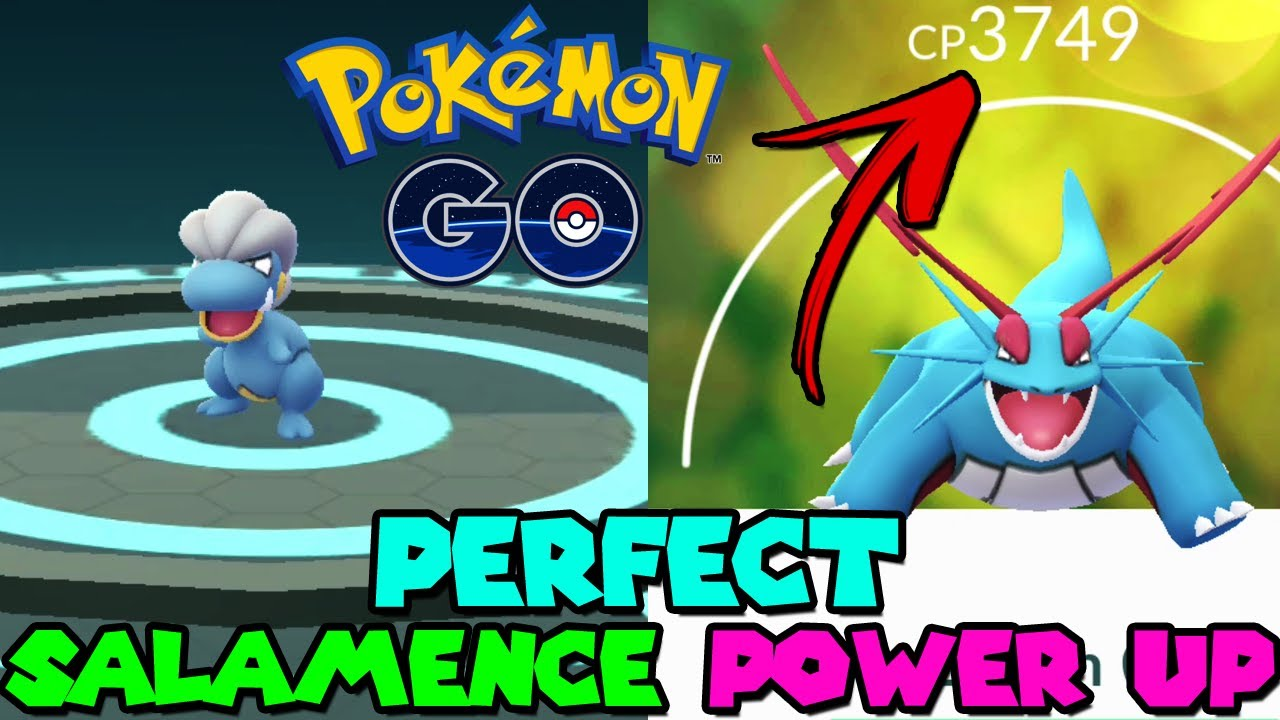 PERFECT 100% IV BAGON TO SALAMENCE + POWER UP IN POKEMON GO - BAGON  COMMUNITY DAY - YouTube