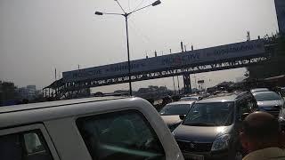 Dalit protestors block the highway at Kalanagar